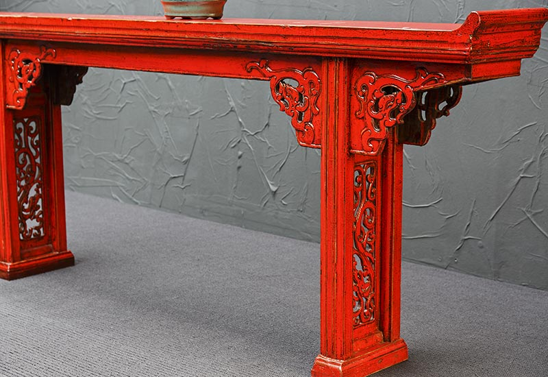 rotes china sideboard antik