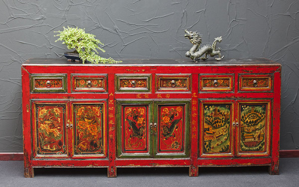Großes, antikes Sideboard aus China