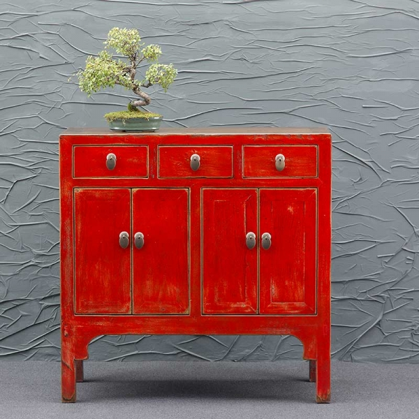 China Kommode antik in Rot
